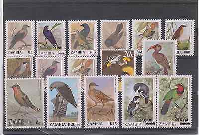 (Z-386) Zambia Various Birds In Perfect Condition U/mint