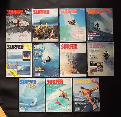 Surfer Magazine 1984 Used Lot Of 11 Issues Vol.25  Surf Surfing Hawaii
