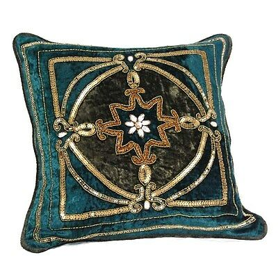 Silkroute PL9549  Lolita Turquoise Square Pillow