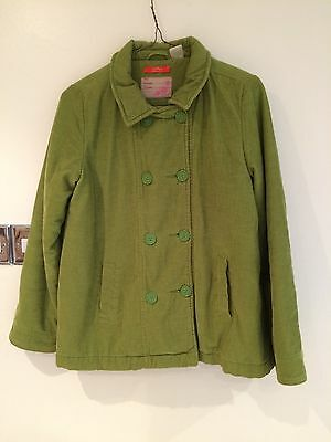 Girl Green Refer Jacket From France. Size 60 Aprox Age 10
