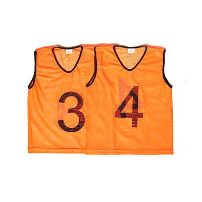 Youth Set of 15 Numbered Sports Training Bibs Fluro Orange
