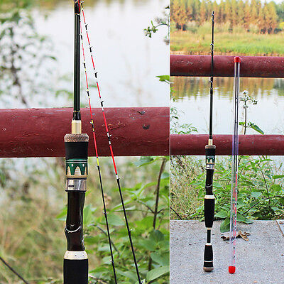 Fishing Spinning Rod 4FT 2Pieces Travel Carbon Carp Ice Fishing Pole Gear Tackle