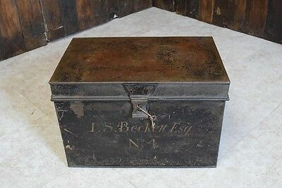 Vintage Metal Deed Box • £60.00