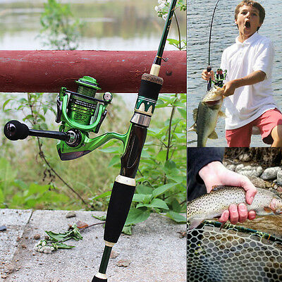 4FT Fishing Spinning Rod and Reel Combo Ice Freshwater Portable Fishing Kits