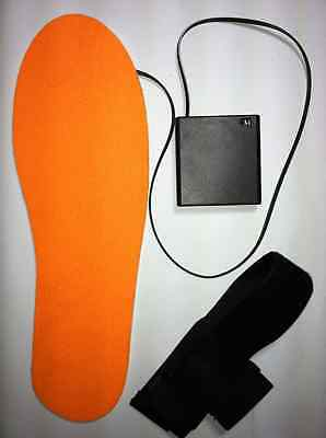 """Heated insoles  60C (140F) 12 hrs max Ukranian """"Hotiki"""" shoe foot warmer battery"""
