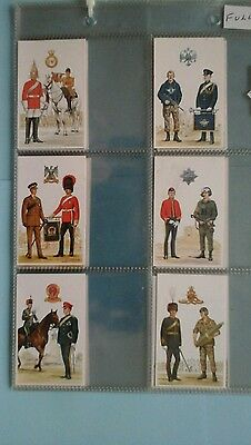 Army Careers Information Office British Regiments F /S Mint In Sleeves