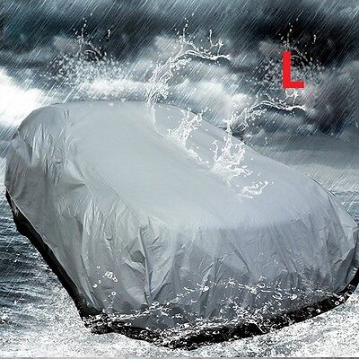 New Universal Large Size L Full Car Cover UV Protection Waterproof Breathable UK