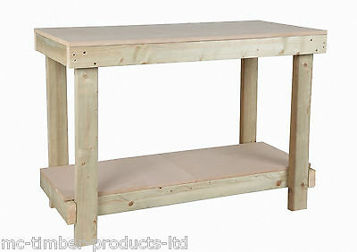 4Ft Wooden Wood Work Bench Table - 18Mm Mdf Top Heavy Duty  **free Delivery**