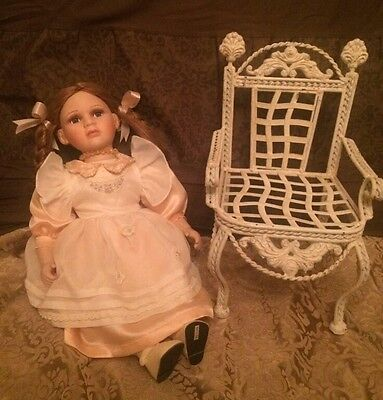 Porcelain Doll And Chair
