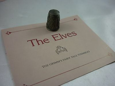 The Grimms Elves Pewter Thimble ''Franklin mint'' Vintage!