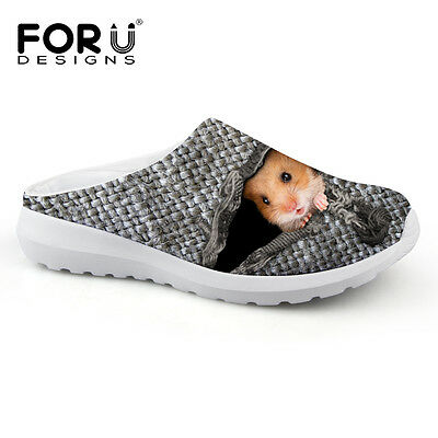 NEW Gray Breathable Men's Ladies Cool Mesh Slipper Outdoor Slip On Leisure Shoes