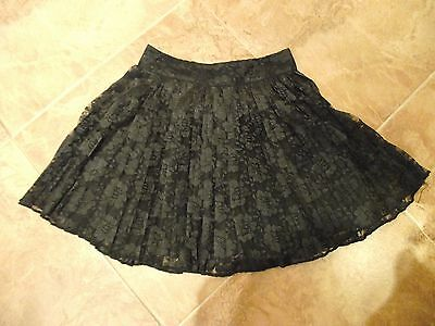 Girls Candy Couture - Age 10 - 11 Years Black Lace Party Skirt