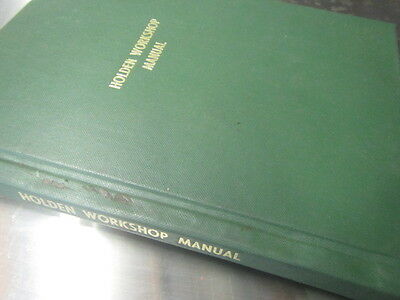 1952 Holden factory workshop manual recovered 30 years ago