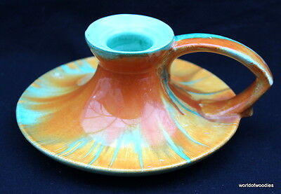SHELLEY HARMONY WARE 1930's CANDLE HOLDER / CHAMBERSTICK