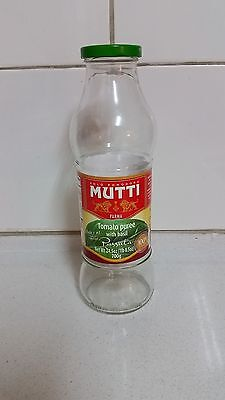 720ML MUTTI ~ EMPTY ~ TOMATO GLASS!!  BOTTLE Capacity