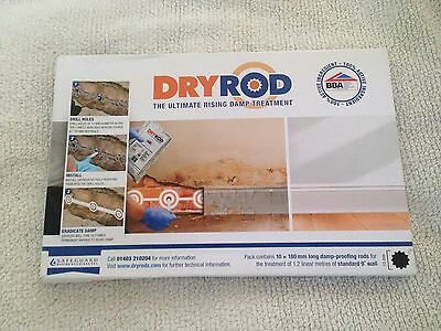 Dryrod® Damp Proofing Rods - Pack of 10 - Next Generation Rising Damp Treatment