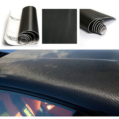 Film vinyle 3D tuning carbone noir thermoformable adhesif autocollant 30x152cm