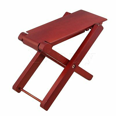 Guitar Footrest Solid Wood Guitar Pedal 4-Level Adjustable Height Red