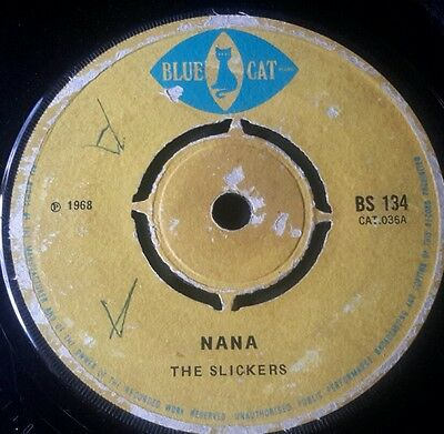 "7""single Nana Blue Cat Label"