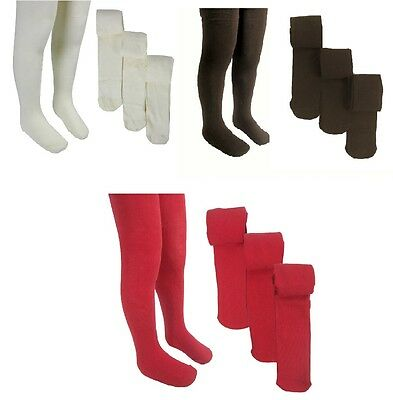 Ex M&S Girls School Tights Soft Cotton Marks and Spencer School Tights 3 Pairs