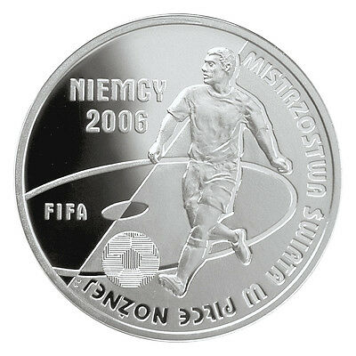 Poland Silver 10 zł 2006 Fifa World Cup Germany 2006  Look!!!