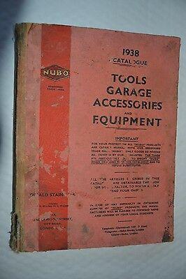 1938 Nubo Garage Tools & Accessories Catalogue, Engineers Tools & Equipment