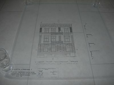 Vintage Architectural Scale Drawing Inventory And Documentation (4) 1980 Poland
