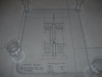 Vintage Architectural Scale Drawing Inventory And Documentation (6) 1980 Poland