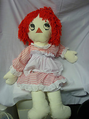 "Raggedy Ann Rag dolls & clothes Approx 36"" high (3 foot) Made by me!"