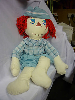 "Raggedy Andy Rag doll & clothes Approx 36"" high (3 foot) Made by me!"