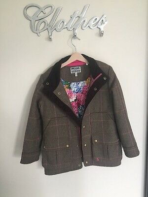 Girls Joules Tweed Coat