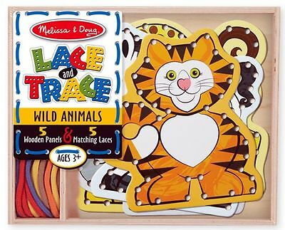 Lace And Trace Wild Animals - Melissa And Doug