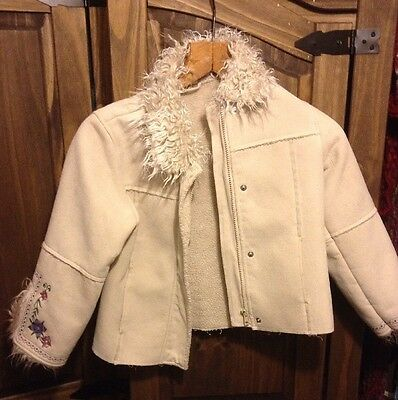 Vintage Child's Afghan Coat By Ladybird Aged 7 To 8