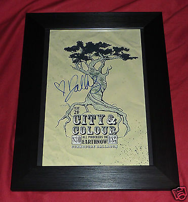 CITY AND COLOUR SIGNED AUTOGRAPHED FRAMED CONCERT POSTER DISPLAY alexisonfire
