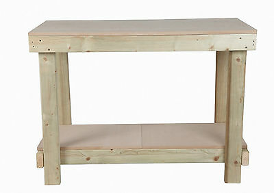 NEW 1.2m 1200mm 4ft WOODEN HAND MADE STRONG WORKBENCH TABLE OPTIONS AVAILABLE