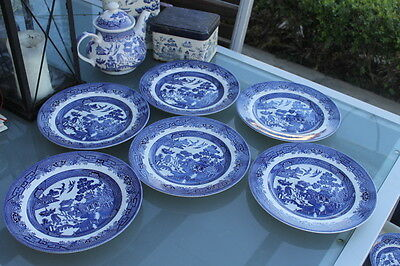 BRAND NEW MINT condition WILLOW blue dinner plate churchill - Post availabl