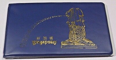 Singapore 12 Coins and Stamp Collection Malaysia Book