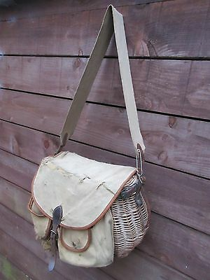 Ogden Smith wicker and canvas creel