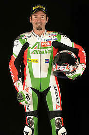 Max Biaggi Motorbike Racing Leather Suit Ce Aproved Protection