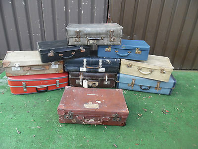10X Vintage Suitcases Trunk Chest Storage Luggage,travel Props Display wedding