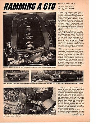 1966 Pontiac Ramming A Gto ~ Original Two-Page Article / Ad