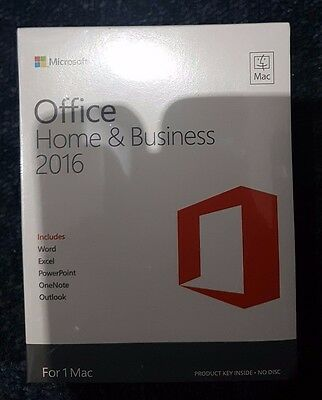 Microsoft Office Home & Bussiness 2016 For 1 Mac W6F-00550