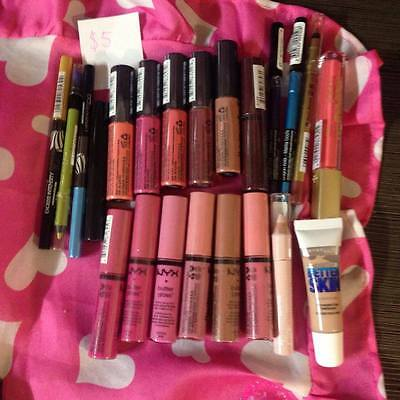 BRANDED MAKE UP LOT: buttergloss, eyeliners, concealer, and highlighter