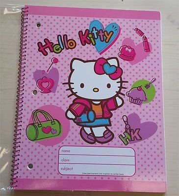 Sanrio Hello Kitty School Large Spiral Notebook Journal Diary NEW IP