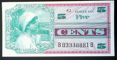 USA AMERICA _  Military payment certificate _ series 661 _ 5 cents _ UNC