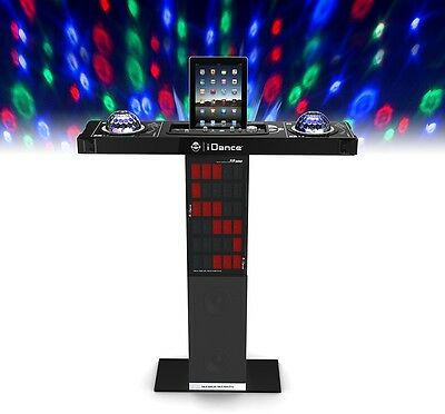 IDance Bluetooth Karaoke Station Party Twin Disco Ball Light DJ Control Mic FREE