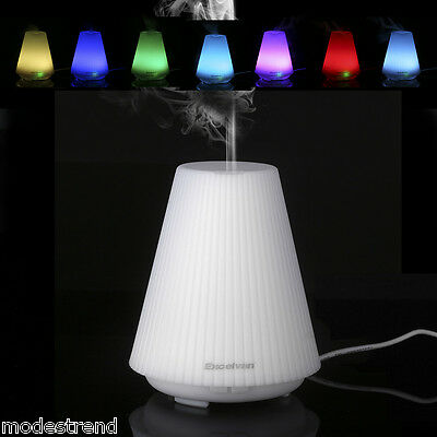 Essential Oil Aroma Diffuser Ultrasonic Humidifier Aromatherapy LED Air Purifier