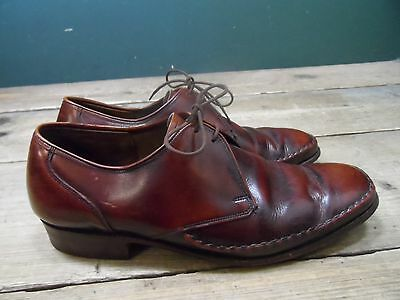 Vintage Phillips Magna Brown Leather Lace Up Shoes UK Size 6