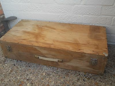 Wooden Carpenters Tool Box Chest