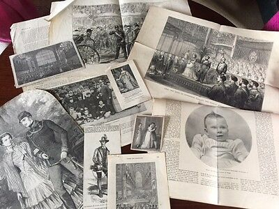 Collection of newspaper articles & pictures relating to Royalty Circa Victorian